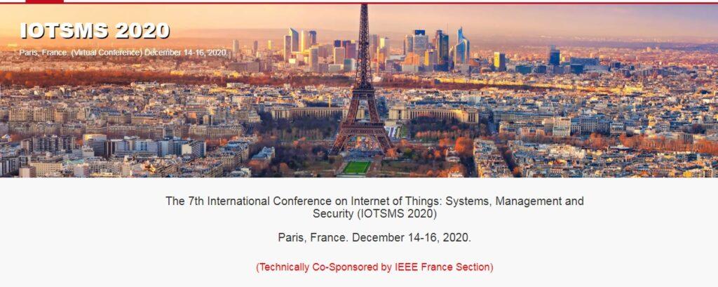 7-ма Міжнародна конференція по Інтернету речей: системи, керування та безпека (IOTSMS 2020)